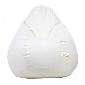 sattva-classic-xl-bean-bag-cover-white - bean-bags