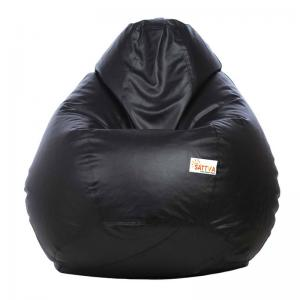 sattva-classic-xxl-bean-bag-cover-black - bean-bags