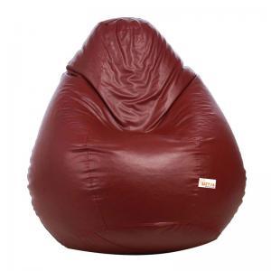 sattva-classic-xl-bean-bag-maroon - bean-bags
