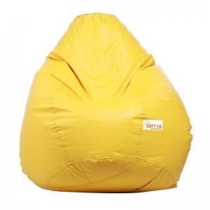 sattva-classic-xl-bean-bag-yellow - bean-bags