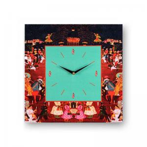 abstract-brown-framed-analogue-wall-clock - wall-clocks