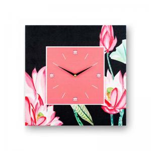 floral-pink-framed-analogue-wall-clock - wall-clocks