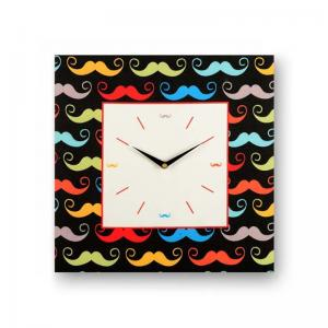 abstract-black-framed-analogue-wall-clock - wall-clocks