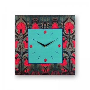 floral-grey-framed-analogue-wall-clock - wall-clocks