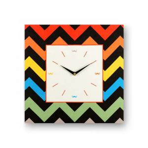 geometric-black-framed-analogue-wall-clock - wall-clocks
