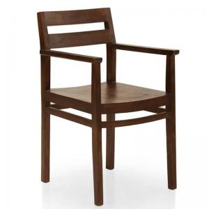 barcelona-dining-chair-with-arm-rest-walnut - dining-tables-and-chairs