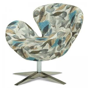 perm-lounge-chair-blue-leaves - chairs