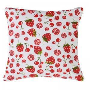 home-boutique-subtle-blue-print-cushion-cover-red - kids-decor