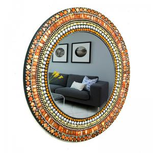 round-mosaic-mirror - mirrors-and-jharokhas