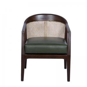 eden-accent-chair-in-olive-leatherette-fabric-with-natural-polish - chairs