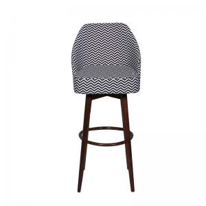 iris-bar-chair-in-chevron-in-black-and-white-fabric-with-natural-polish - bar-furniture