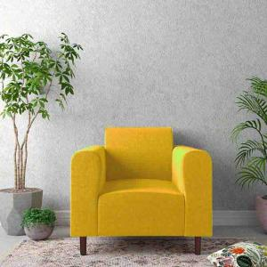 magnolia-yellow-one-seater-sofa - sofas-and-recliners