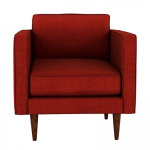 quince-red-one-seater-sofa - sofas-and-recliners
