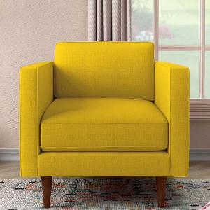 quince-yellow-one-seater-sofa - sofas-and-recliners