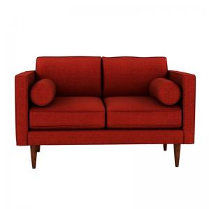 quince-red-two-seater-sofa - sofas-and-recliners