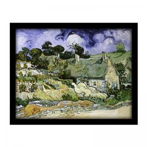 thatched-cottages-at-cordeville-1890-by-vincent-van-gogh-s - art-prints