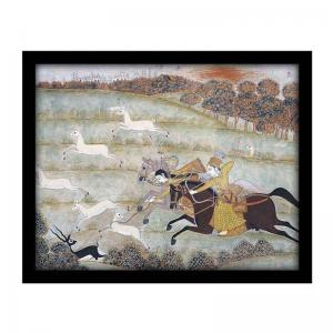 hunting-scene-miniature-from-mughal-school-india-18th-century-s - art-prints