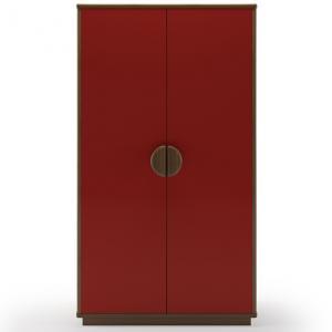 kevin-2-door-wardrobe-red - wardrobes