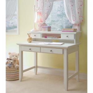 white-student-desk-and-hutch - kids-furniture