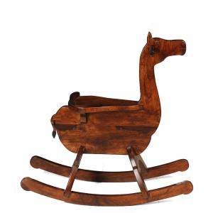 sheesham-wood-camel-natural-rocker - kids-furniture
