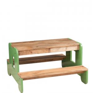 mango-wood-mdf-kreeda-activity-table-with-bench - kids-furniture