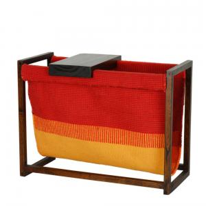 daig-wood-with-dhurrie-magazine-rack - storage-and-shelves