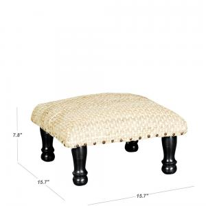 sheesham-wood-low-natural-hemp-stool - benches-stools-and-ottomans