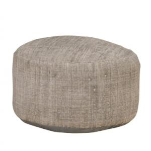 cotton-upholstered-surmai-poof - benches-stools-and-ottomans