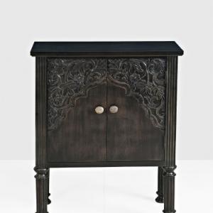 mango-wood-2-door-carved-oldoak-cabinet - storage-and-shelves