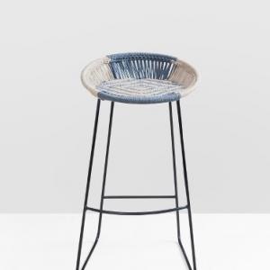 metal-jute-woven-bar-stool - bar-furniture