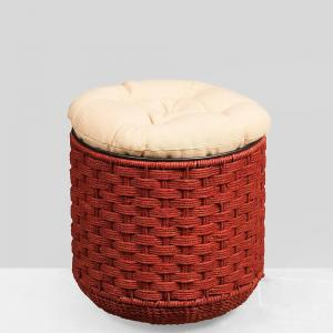 jute-stool-with-storage-and-cushion - benches-stools-and-ottomans