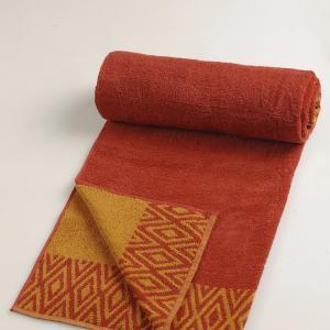 orange-cotton-pile-jac-hafiz-face-towel - bath-towels