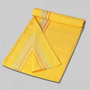 yellow-cotton-woven-twill-border-hand-towel - bath-towels