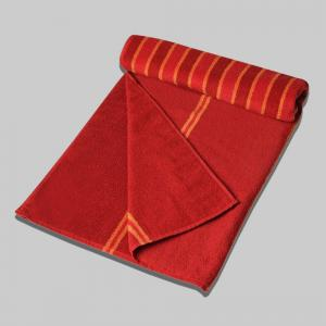 red-cotton-pile-jacquard-bold-face-towel - order
