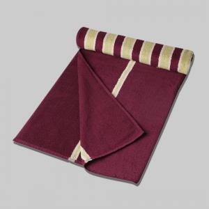 purple-cotton-pile-jacquard-bold-face-towel - bath-towels