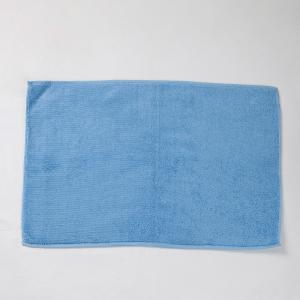 blue-cotton-woven-plain-bathmat - bath-accessories