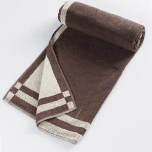 brown-cotton-pile-plain-reversible-face-towel - bath-towels