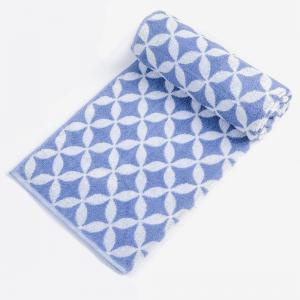 blue-udyat-jacquard-pile-cotton-face-towel - bath-towels