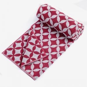 maroon-udyat-jacquard-pile-cotton-face-towel - bath-towels