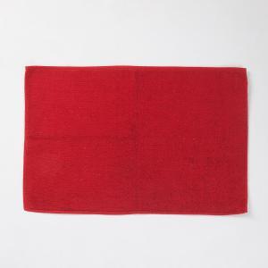 red-cotton-woven-bath-mat - bath-accessories