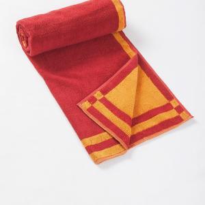 red-cotton-pile-plain-reversible-face-towel - bath-towels