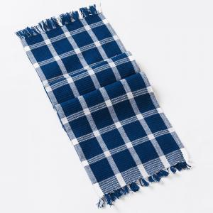 blue-cotton-woven-vasa-hand-towel - bath-towels