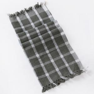 grey-cotton-woven-vasa-hand-towel - bath-towels