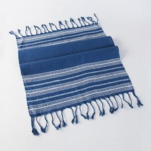 blue-cotton-woven-darbha-gamcha-hand-towel - bath-towels