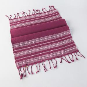 wine-cotton-woven-darbha-gamcha-hand-towel - bath-towels
