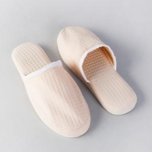 beige-cotton-woven-kamik-slipper-28-cm - bath-accessories