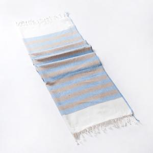 blue-cotton-woven-sarang-gamcha-hand-towel - bath-towels