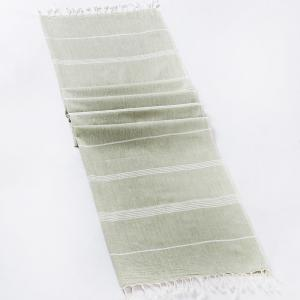 green-cotton-woven-tripta-gamcha-hand-towel - bath-towels