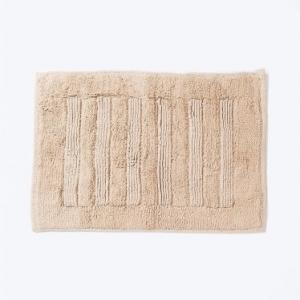 beige-cotton-woven-bathmat - bath-accessories