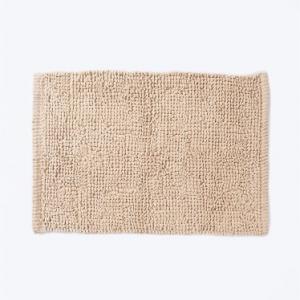 beige-cotton-woven-bathmat-tufted - bath-accessories